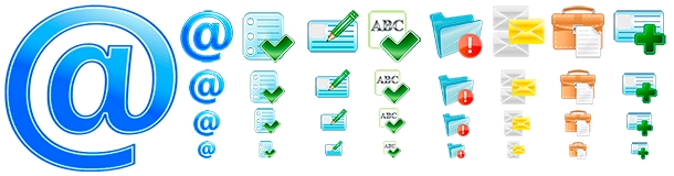 Icons for email client application or website