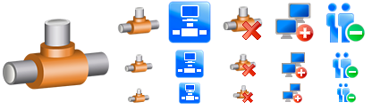 Several examples of the Network Icons Pack.