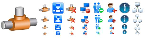 Screenshot of Network Icons Pack