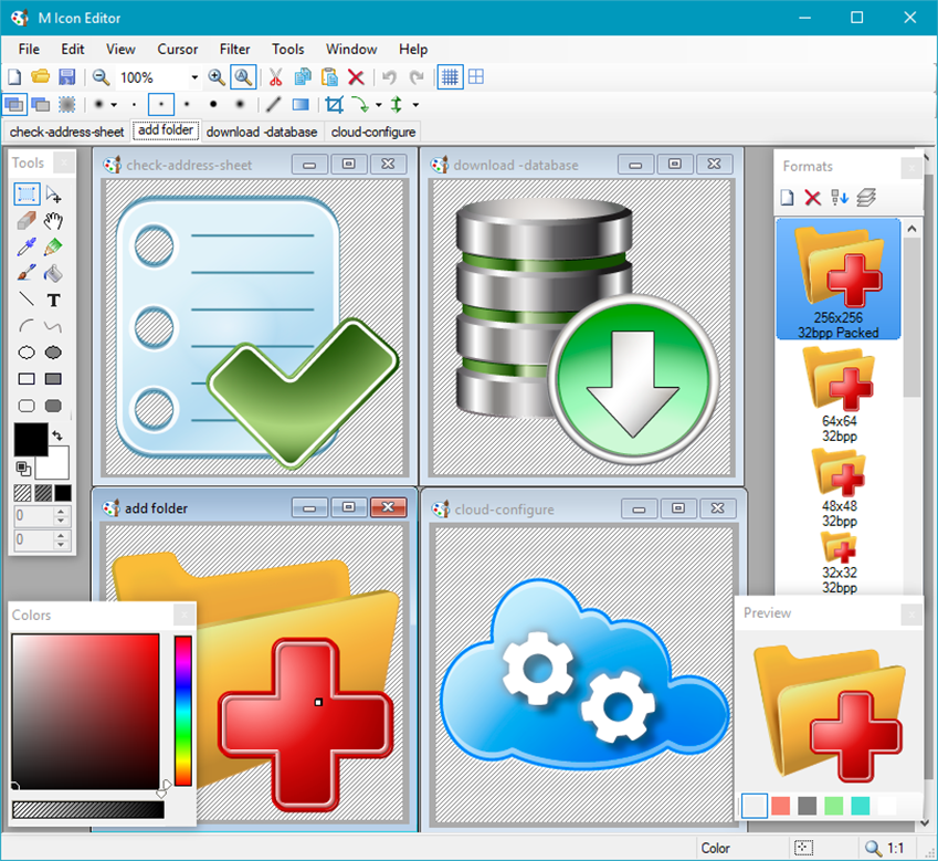 Download Icon Editing Software.