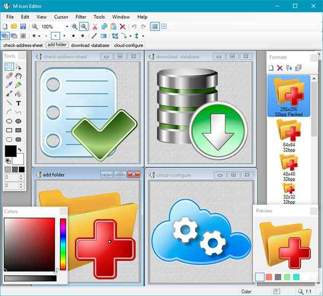 Click to view M Icon Editor 3.45 screenshot